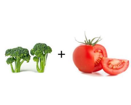 Súp lơ xanh + cà chua: Khi kết hợp với nhau sẽ tạo hiệu quả chống ung thư rõ rệt, làm chậm sự tăng trưởng của khối u đến 52%.