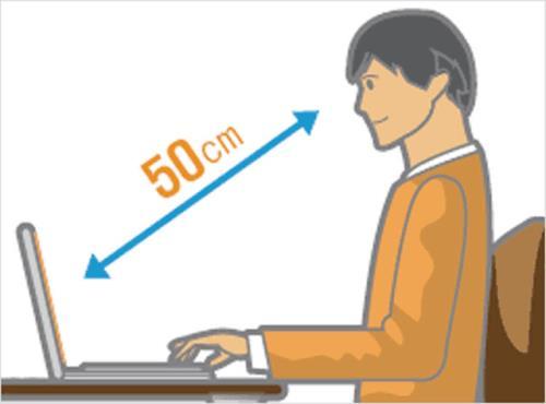 Khoảng cách từ mắt đến màn hình máy tính rất quan trọng trong việc bảo vệ mắt